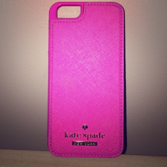 check out 4932c 34dd9 Kate Spade Hot Pink iPhone 6 case w/ card holder