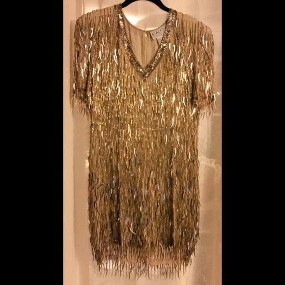 Oleg Cassini - Vintage Sequin Flapper Dress from Sasha's closet on ...