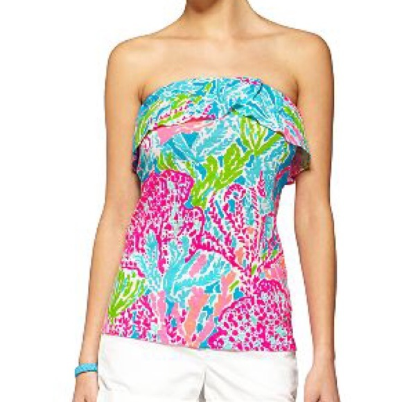 a7dc0e6f2527fc Lilly Pulitzer Tops - Lilly Pulitzer Let's Cha Cha Tube Top