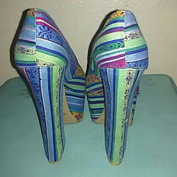 67 frh shoes multi colored high heel shoes from