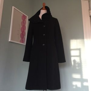 Black Odille Coat from Anthropologie