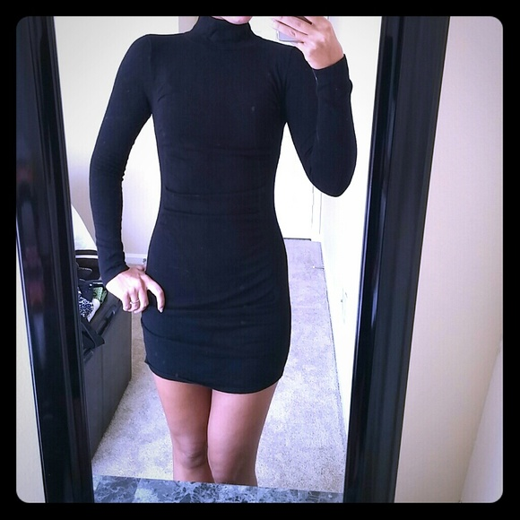 c6cb916a01 Express Dresses   Skirts - Express Mock Neck Ruched Sweater Dress