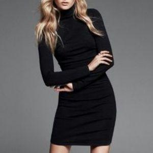 3480dff7ef Express Dresses - Express Mock Neck Ruched Sweater Dress