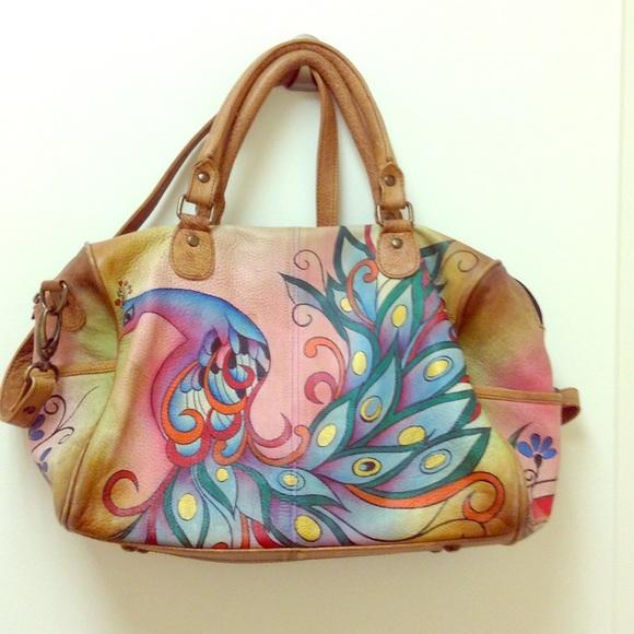 Anuschka Handbags - Anuschka Hand Painted Genuine Leather Handbag 7cc18ef23c