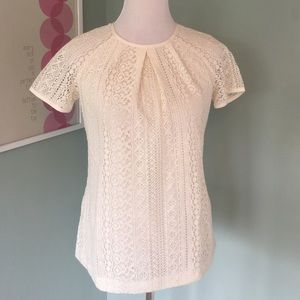 Banana Republic Tops - Sold in bundle -Banana republic off white lace top