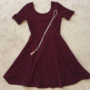 BP- Burgundy dress