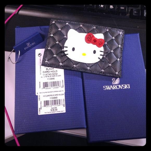 9dd5ee7fd Swarovski Accessories | Hello Kitty Card Holder Nwt | Poshmark