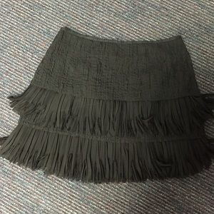 Black fringe Zara skirt