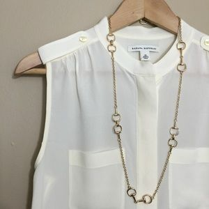 Banana Republic Tops - Banana Republic Ivory Silk Utility Top
