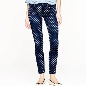 LAST PAIR Polka Dot Faded Skinny Jeans NWT