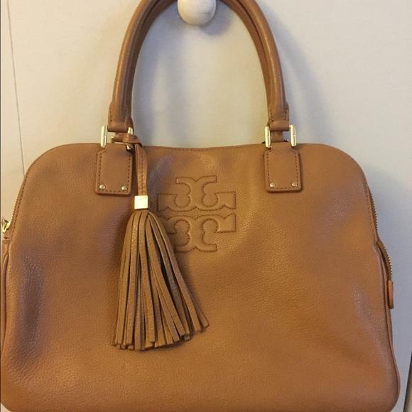 1f1d330e71f Tory Burch Royal Tan Thea Triple Zip bag. M 5515d92756b2d65c430049fa