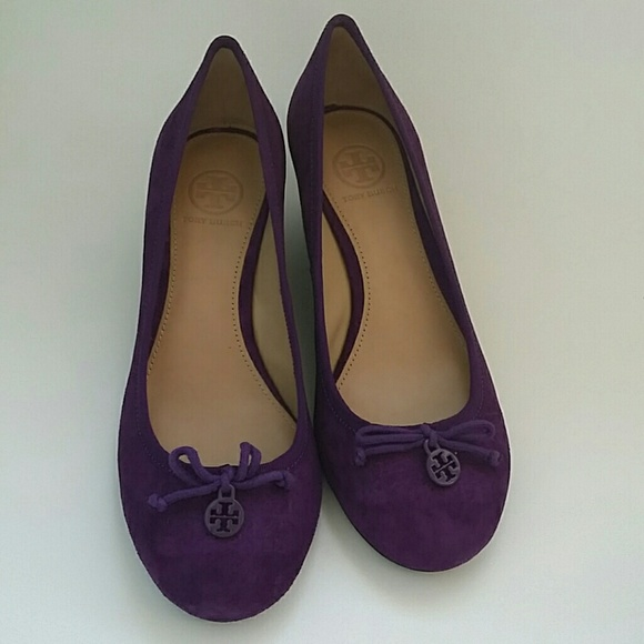 aeac2041cf0a Tory Burch Chelsea wedge suede sweet plum color