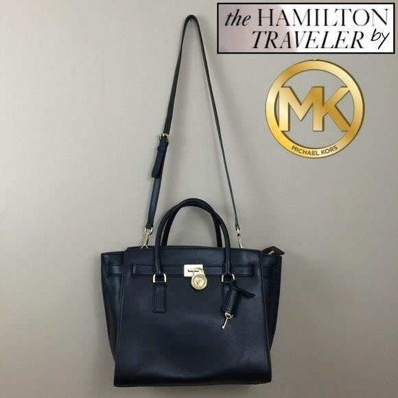 80bb716dd7f5 Michael Kors Black Hamilton Traveler Bag & Dustbag.  M_552d73317fab3a0aa1002853