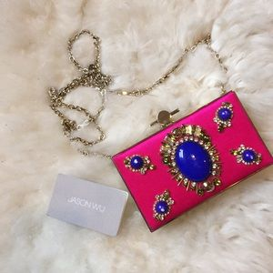 Jason Wu Clutches & Wallets - 🎉3XHP🎉 Jason Wu Pink Silk Embellished Clutch