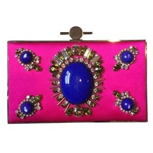 Jason Wu Handbags - 🎉4XHP🎉 Jason Wu Pink Silk Embellished Clutch