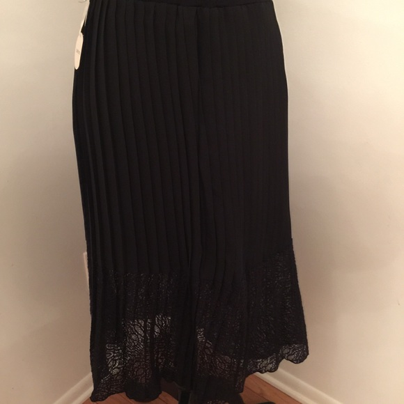 82% off Bellatrix Dresses & Skirts - Long black pleated skirt and ...