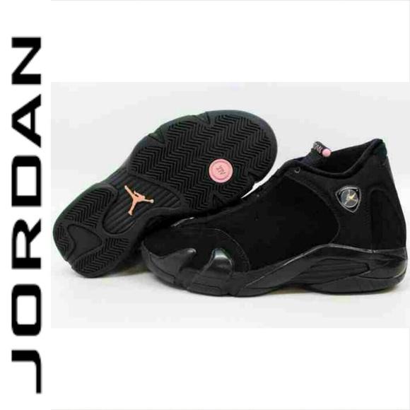 separation shoes cf051 1a274 where to buy nike air jordan 14 xiv gs retro black pink rose ...