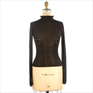 CHANEL Sweaters - CHANEL 100% cashmere mock turtleneck size 38