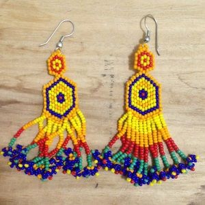 H&M multi colored beaded earring