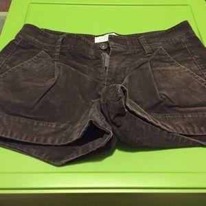Brown corduroy shorts