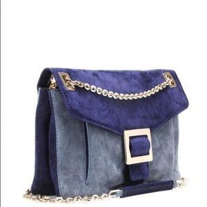 Roger vivier Bags - SOLD👈👈Roger vivier blue gray suede shoulder bag! 0ca2aa632972b