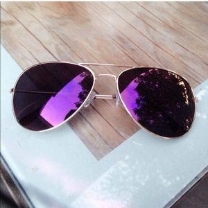 Accessories - Purple Lens Aviator Sunglasses