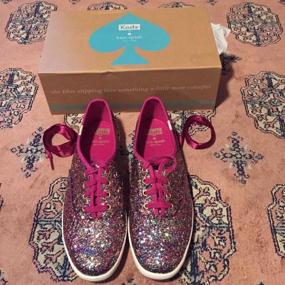 8e03b893432a kate spade Shoes | Nwt Pink Multi Glitter Keds | Poshmark