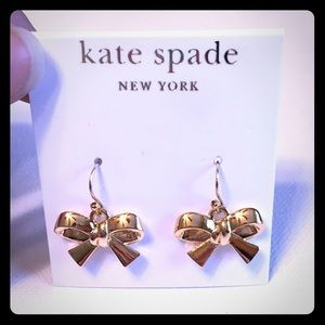 NEW kate spade Gold Bow Drop Earrings!
