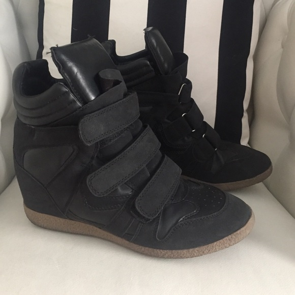 43 xhilaration shoes black wedge sneaker from