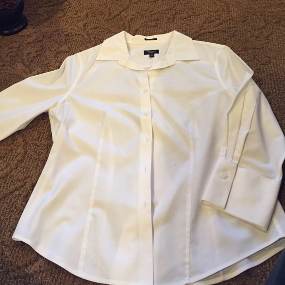 43% off Talbots Tops - Perfect white dress shirt from Tina's ...