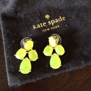 New Kate Spade earrings. Yellow