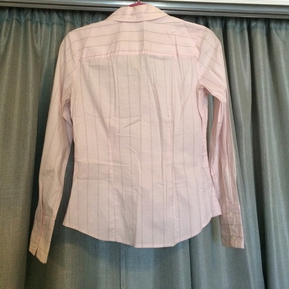 87 off the limited tops light pink with gray pinstripe for Pastel pink button down shirt