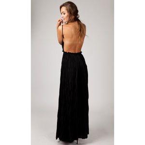729dc04bbaa ANGL Dresses - OBO Lovely Crochet Lace Open Back Maxi Dress