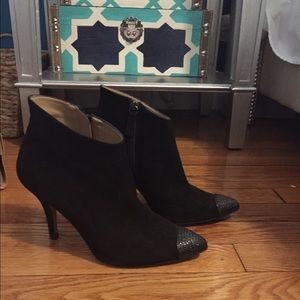 Zara black ankle booties