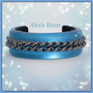 Alexis Bittar Chain Link Cuff/Blue. Price Firm.
