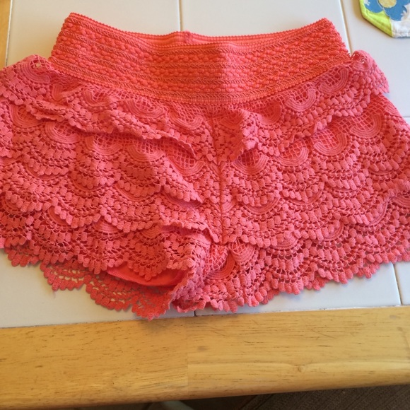 Rewind Shorts | Lace Coral Color | Poshmark