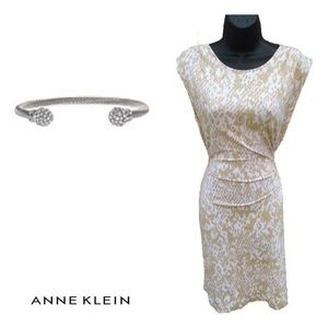 Ann Klein Rouch Tie Dress NWOT