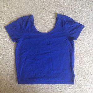 Royal blue fitted crop top