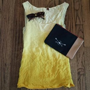 PRICE DROP! 1 HR ONLY! Anthro Ombre Yellow Top