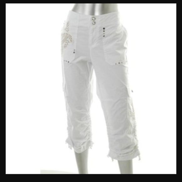 75% off INC International Concepts Pants - INC Embellished White ...