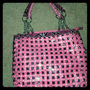 NWOT pink rhinestone purse