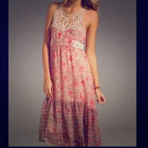 Free People Crochet Festival Maxi Dress Size 2