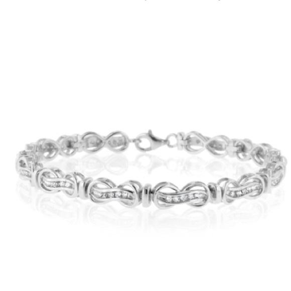 740fa312a Kay Jewelers Jewelry | Final Markdown Kay 1 Ct Tw Diamond Bracelet ...
