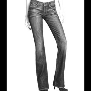 7 for all mankind dark gray bootcut jeans
