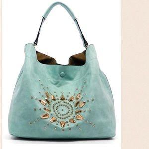 "Zara ""style"" bag blue rhinestones"