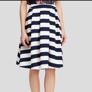 Lucy Paris striped midi skirt