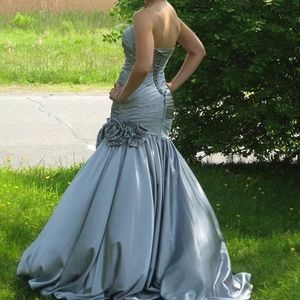 Night Moves Dresses & Skirts - Night Moves silver gown prom pageant formal