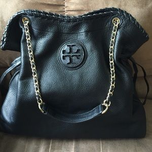 Tory Burch Marion Slouchy Tote in Excellent Cond.