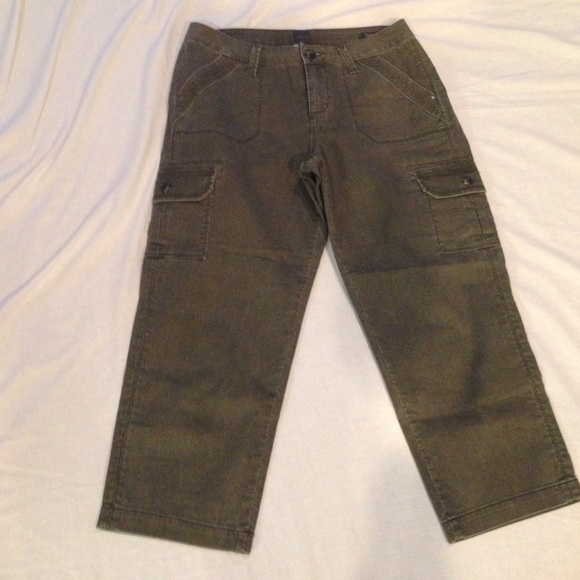 80% off Jag Pants - JAG cropped Corduroy Cargo Pants Olive 10 from ...