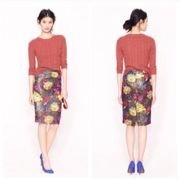 J. Crew Dresses & Skirts - Collection No 2 pencil skirt in floral brocade